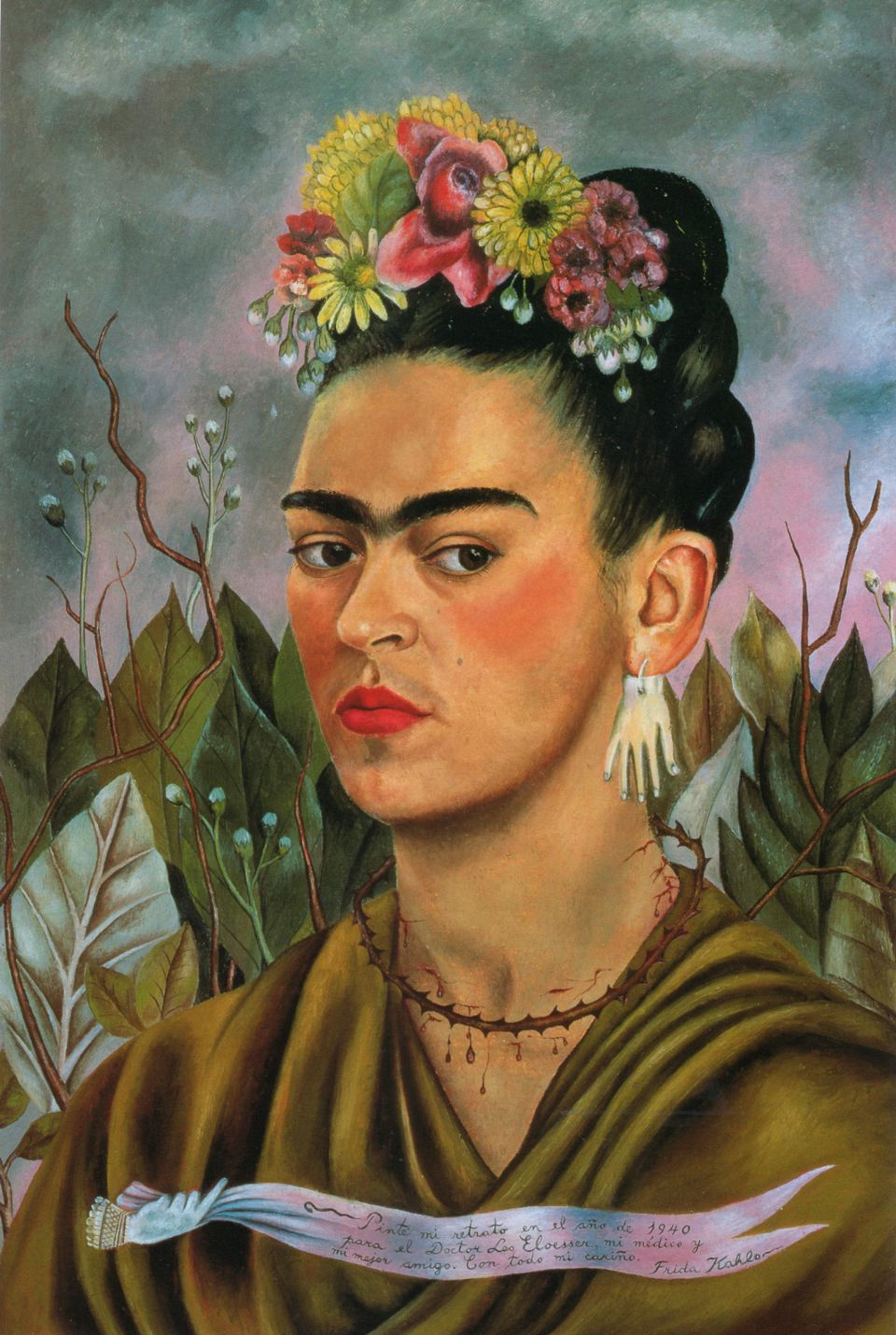 Frida kahlo self portrait dedicated to dr eloesser 1940 the