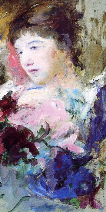 Young Girl with Loose Bouquet by Mary Cassatt (detail)