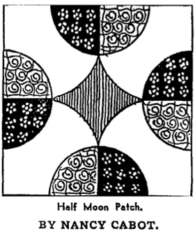 Half Moon Patch by Nancy Cabot