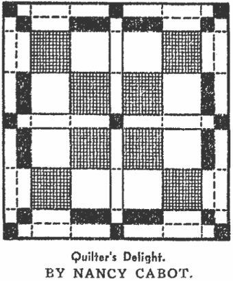Nancy Cabot, Quilter's Delight