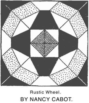 Rustic Wheel by Nancy Cabot