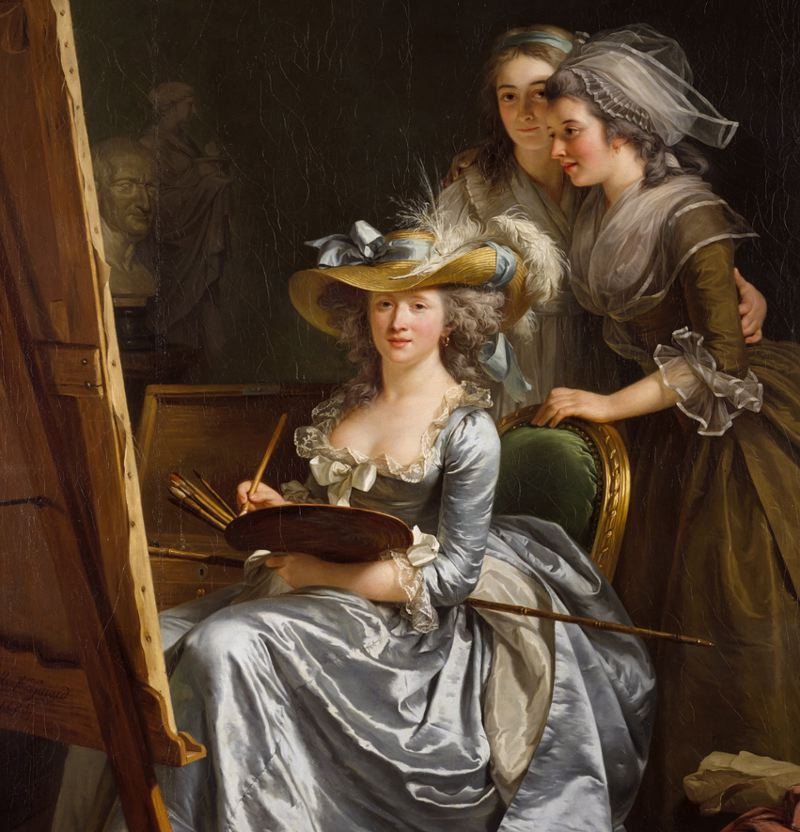 Adelaide Labille-Guiard with Two Pupils